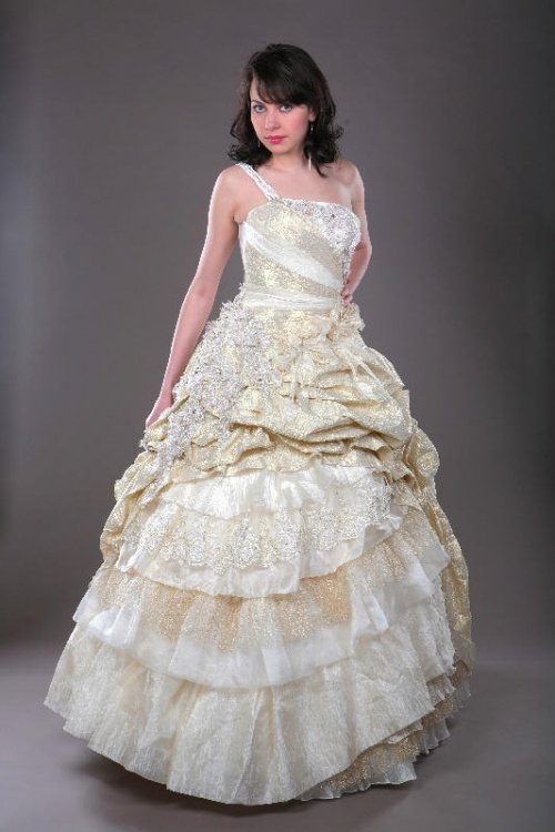 Свадебные платья Модель M901 золото