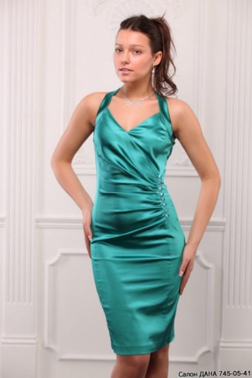 Как сшить короткое атласное платье 7