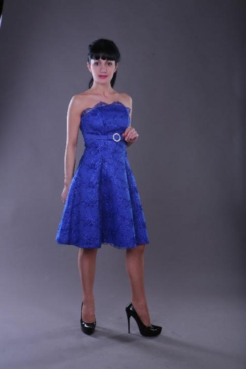 Платья Модель Настенька - синее