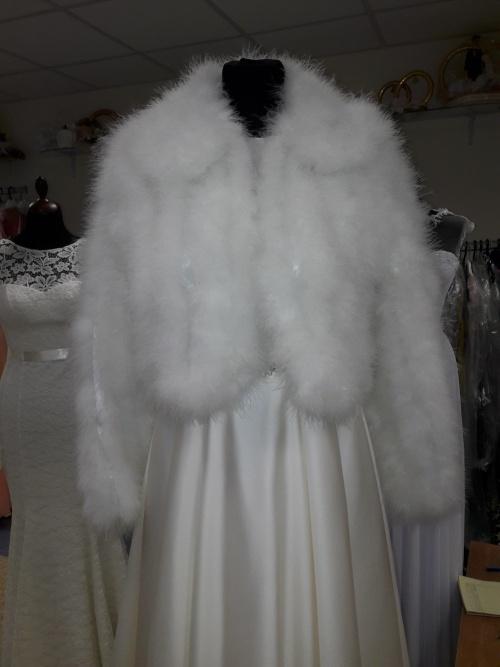 Свадебные платья Шубка из лебяжьего пуха
