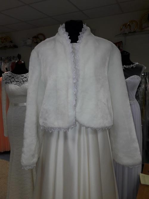 Свадебные платья Меховая шубка для платья